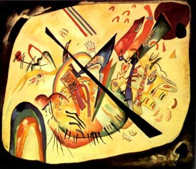 Vasilii Kandinsky, White Oval Fine Art Reproduction Oil Painting