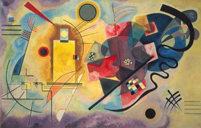 Vasilii Kandinsky, Yellow-Red-Blue Fine Art Reproduction Oil Painting