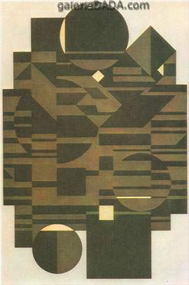 Victor Vasarely, Elbrouz-II Fine Art Reproduction Oil Painting