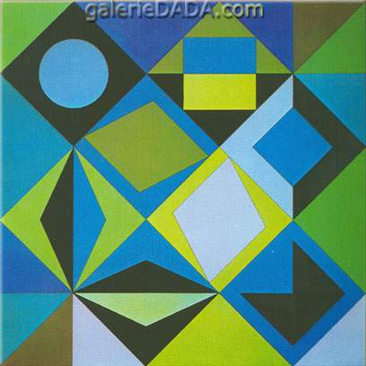 Victor Vasarely, Sikra-Z Fine Art Reproduction Oil Painting