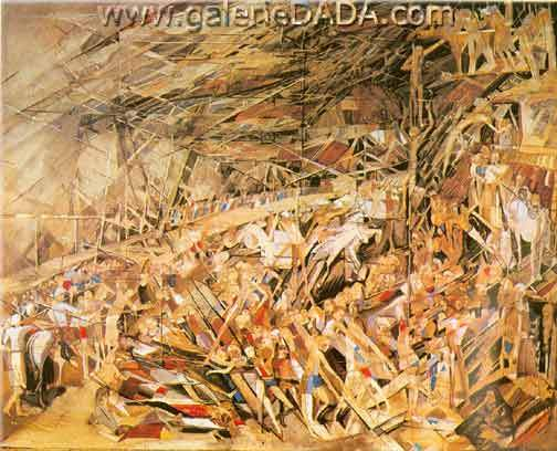 Vieira Da Silva, The Disaster Fine Art Reproduction Oil Painting