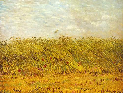 Vincent Van Gogh, A Wheat Field Fine Art Reproduction Oil Painting
