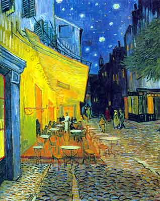 Vincent Van Gogh, The Cafe Terrace Fine Art Reproduction Oil Painting