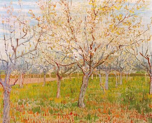 Vincent Van Gogh, The Orchard Fine Art Reproduction Oil Painting