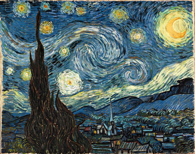 Vincent Van Gogh, The Starry Night Fine Art Reproduction Oil Painting