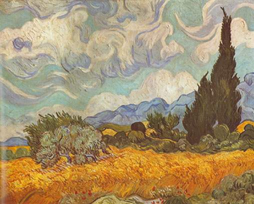 Vincent Van Gogh, Wheat Field with Cypresses Fine Art Reproduction Oil Painting