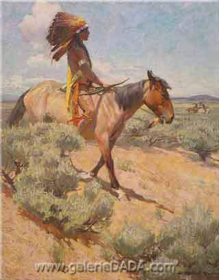 W. Herbert Dunton, The Chief Fine Art Reproduction Oil Painting