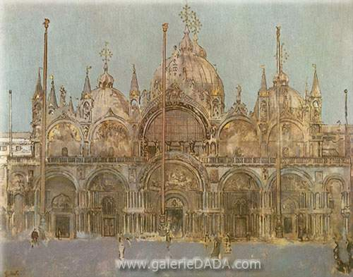 Walter Sickert, St Marks Cathedral Venice Fine Art Reproduction Oil Painting