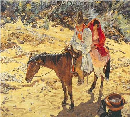 Walter Ufer, Near the Waterhole Fine Art Reproduction Oil Painting