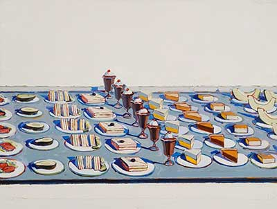 Wayne Thiebaud, Salads, Sandwiches and Desserts Fine Art Reproduction Oil Painting