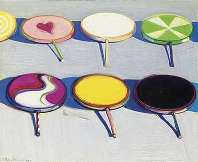 Wayne Thiebaud, Seven Suckers  Fine Art Reproduction Oil Painting