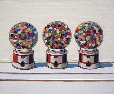 Wayne Thiebaud, Three Machines Fine Art Reproduction Oil Painting