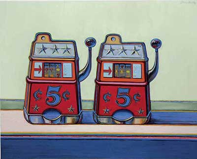 Wayne Thiebaud, Two Jackpots  Fine Art Reproduction Oil Painting