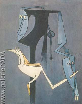 Wilfredo Lam, Bird Fine Art Reproduction Oil Painting