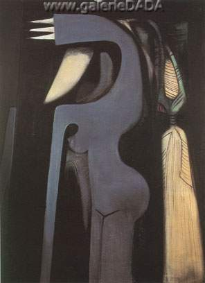 Wilfredo Lam, Femme Chaval 2 Fine Art Reproduction Oil Painting