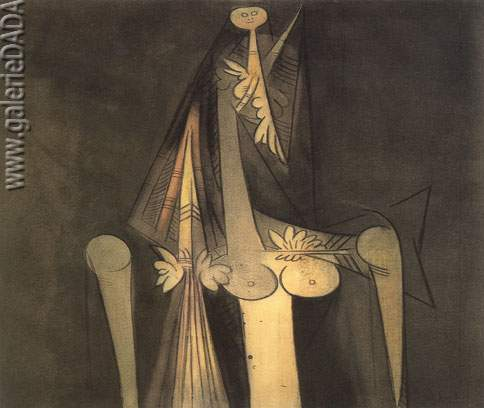 Wilfredo Lam, La Rose Zombie Fine Art Reproduction Oil Painting