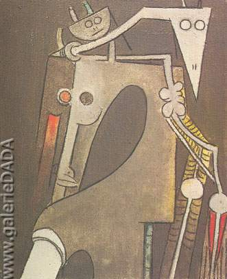 Wilfredo Lam, Pattern 1/24 Fine Art Reproduction Oil Painting