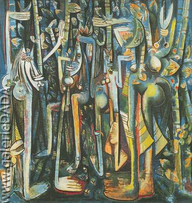 Wilfredo Lam, The Jungle Fine Art Reproduction Oil Painting