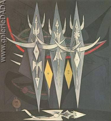 Wilfredo Lam, Threshold Fine Art Reproduction Oil Painting