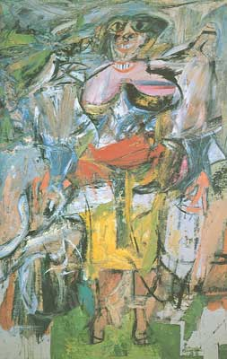 Willem De Kooning, Woman and Bicycle Fine Art Reproduction Oil Painting