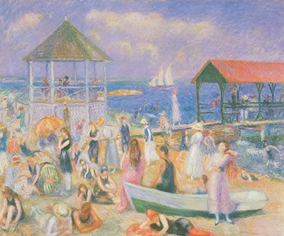 William Glackens, Beach Scene, New London Fine Art Reproduction Oil Painting