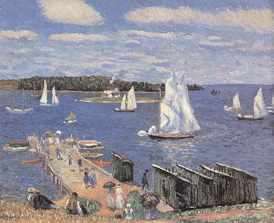 William Glackens, Mahone Bay Fine Art Reproduction Oil Painting