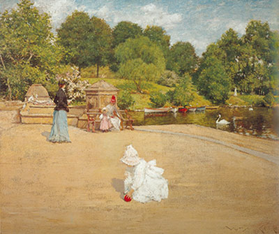 William Merritt Chase, A Bit of the Terrace Fine Art Reproduction Oil Painting