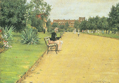 William Merritt Chase, A City Park Fine Art Reproduction Oil Painting