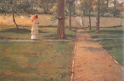 William Merritt Chase, In Brooklyn Navy Yard Fine Art Reproduction Oil Painting
