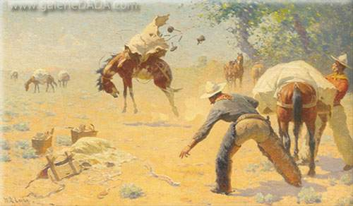 William Robinson Leigh, Bucking the Load Fine Art Reproduction Oil Painting