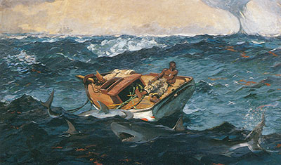 Winslow Homer, The Gulf Stream Fine Art Reproduction Oil Painting