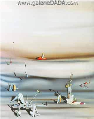 Yves Tanguy, Day of Slowness Fine Art Reproduction Oil Painting