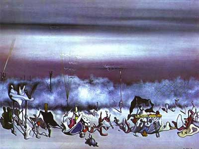 Yves Tanguy, Ribbon Fine Art Reproduction Oil Painting