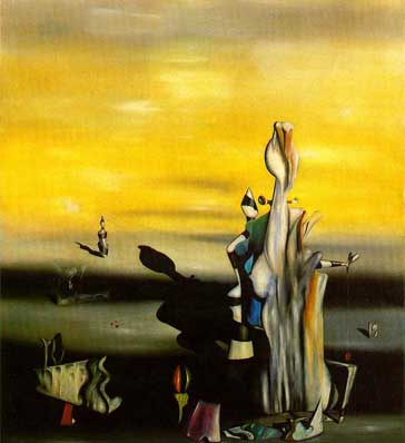 Yves Tanguy, The Absent Lady Fine Art Reproduction Oil Painting