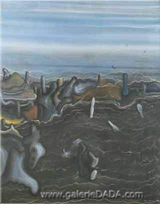 Yves Tanguy, The Dark Garden Fine Art Reproduction Oil Painting