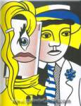 Roy Lichtenstein, Stepping Out Fine Art Reproduction Oil Painting