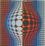 Victor Vasarely, Vega-Wa-3 Fine Art Reproduction Oil Painting
