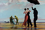 Banksy, Dancing Butler on Toxic Beach Fine Art Reproduction Oil Painting