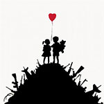 Banksy, Kids on Guns Hill Fine Art Reproduction Oil Painting