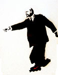 Banksy, Lenin on Rollerblades Fine Art Reproduction Oil Painting