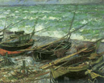 Claude Monet, Fishing Boats Fine Art Reproduction Oil Painting