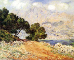 Claude Monet, La Corniche de Monaco Fine Art Reproduction Oil Painting