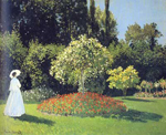 Claude Monet, Lady in the Garden Sainte-Adresse Fine Art Reproduction Oil Painting