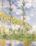 Claude Monet, Poplars (Summer) Fine Art Reproduction Oil Painting