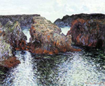 Claude Monet, Rocks at Belle-Ile Fine Art Reproduction Oil Painting