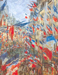 Claude Monet, Rue Saint-Denis June 30th, 1878 Celebration Fine Art Reproduction Oil Painting