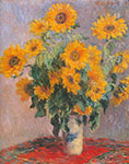 Claude Monet, Sunflowers Fine Art Reproduction Oil Painting