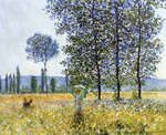 Claude Monet, Sunlight Effect under the Poplars Fine Art Reproduction Oil Painting