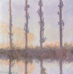 Claude Monet, The Four Poplars Fine Art Reproduction Oil Painting
