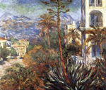 Claude Monet, The Villas in Bordighera Fine Art Reproduction Oil Painting